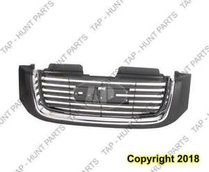 Grille Without Head Lamp Washer Hole Black/Chrome Sle GMC Envoy 2002-2009