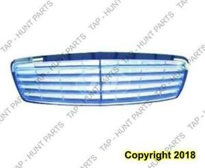 Grille Primed With Elegance Package Without Proximity Cruise (9 Moulding) Mercedes E-Class 2003-2009
