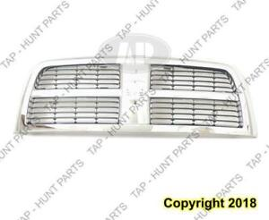 Grille Black With Chrome Frame 2500/3500 Dodge Ram 2010-2012