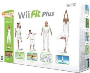 Wii fit plus with game, like new in box
