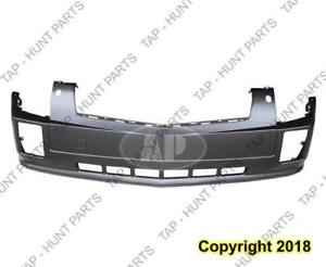 Bumper Front With Head Light Washer Hole Upper/Lower 1 Piece Primed CAPA Cadillac SRX 2004-2009