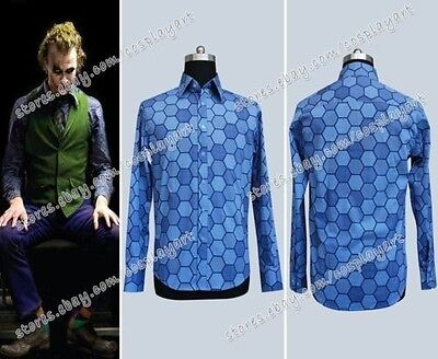 Batman Der Joker Cosplay Kostüme Joker costume Blau Hexagon Baumwolle - Der Joker Cosplay Kostüm