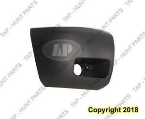 Bumper End Front Passenger Side With Fog Light Hole 1500/Hybrid Primed Black CAPA Chevrolet Silverado 2007-2013