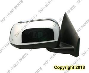 Door Mirror Power Passenger Side Heated With Chrome Cap Chrysler ASPEN 2007-2009