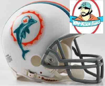 NFL Miami Dolphins 1972 Riddell Mini Replica Throwback Helmet Riddell ()