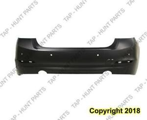 Bumper Rear Primed With Sensor Without Moulding Sedan (Gas) (F30 335I) CAPA BMW 3-Series 2012-2015