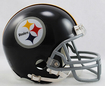 (PITTSBURGH STEELERS THROWBACK 1963-1976 RIDDELL FOOTBALL MINI HELMET NEW IN BOX)