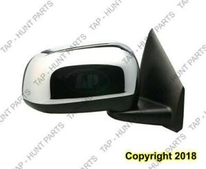 Door Mirror Power Passenger Side Heated With Chrome Cap Chrysler ASPEN 2007-2009