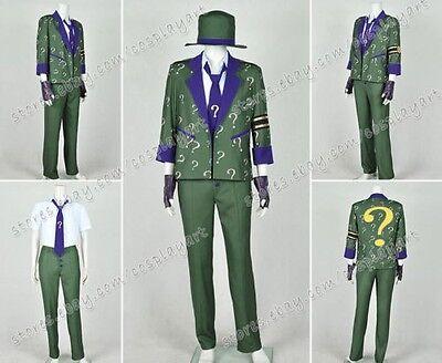 Batman: Arkham City Cosplay Kostüme Riddler costume Edward Nygma Grün - Riddler Grün Anzug Kostüm