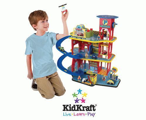 Toy Garages For Boys : Wooden toy garage ebay