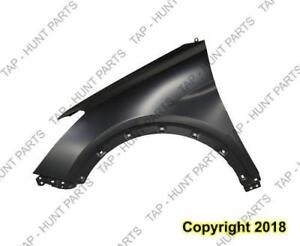 Fender Front Driver Side (Without Side Lamp Hole) Steel Gls/Ltd Passagers Hyundai Santa Fe 2006-2007