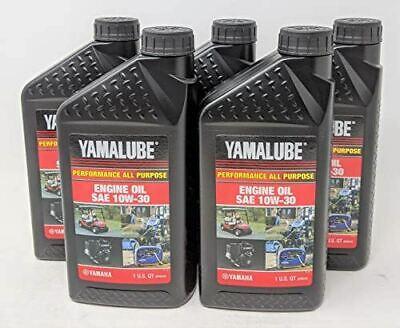 Yamaha 5-pack Lub-10w30-gg-12 Yamalube Golf Car And Generator Oil 10w-30 - Quart