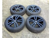 "NEW 20"" LAND ROVER DISCOVERY 4 BLACK EDITION ALLOY WHEELS AND PIRELLI TYRES"