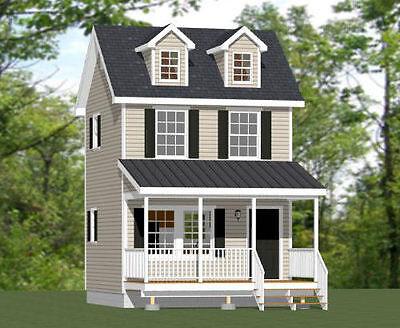 16X16 Tiny House    Pdf Floor Plan    462 Sq Ft    Model 4