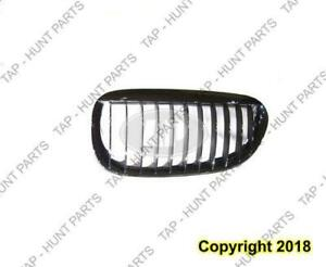 Grille Driver Side Chrome/Black BMW 6 Series 2004-2010