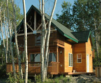 Cozy & Rustic Slopeside Asessippi Ski Cabin for Rent