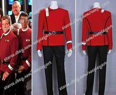Star Trek Cosplay Kostüme Wrath of Khan costume Starfleet Rot Uniform - Starfleet Uniformen Kostüm