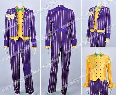 Batman Arkham Asylum Cosplay Kostüme Der Joker costume Karneval Purpur gestreift