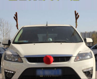 Reindeer Antlers for Car Window Christmas Costume Holiday Decoration Accessories