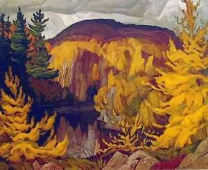 """A.J. Casson """"Autumn on the York River"""" Litho appraised at $750"""