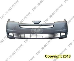 Bumper Front Primed With Sensor Hole Toyota Sienna 2004-2005