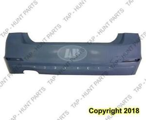 Bumper Rear Primed Without Sensor With Moulding For Gas Model Sedan (F30 328I) CAPA BMW 3-Series 2012-2015