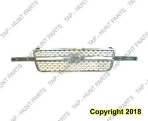Grille Chrome Frame With Gray Honeycomb [2005 Ss] [2006 All Models] [2007 Classic] Center Bar Needs Wing Inserts Chevrol