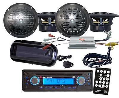 200Watt New Marine CD MP3 Stereo Radio 4 X Speakers & 800Watt Amplifier Package on Rummage