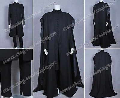 Harry Potter the Deathly Hallows Cosplay Severus Snape costume Schwarz Kostüme