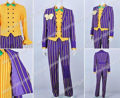 Batman Arkham Asylum Joker Cosplay Kostüme Der Joker costume Purpur gestreift  (Der Joker Batman Kostüme)