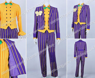 Joker Cosplay Kostüme Der Joker costume Purpur gestreift  (Batman Arkham Asylum Kostüme)