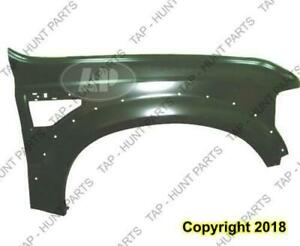 Fender Front Passenger Side With Wheel Moulding Hole CAPA Ford F250 F350 F450 F550 2008-2010