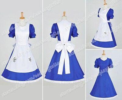 Karneval Alice: Madness Returns Cosplay Kostüme Alice costume Blau Maidkleid (Alice Madness Returns Kostüme)