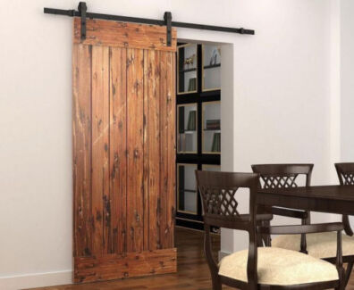 Barn door hardware sliding door track building materials for Sliding glass doors gumtree