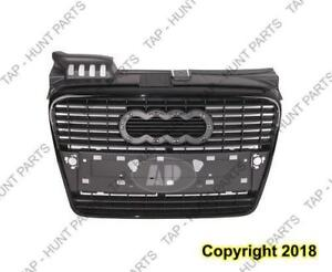Grille (Patd/Primed-Black) Without S-Line Packag Audi A4 2005-2008