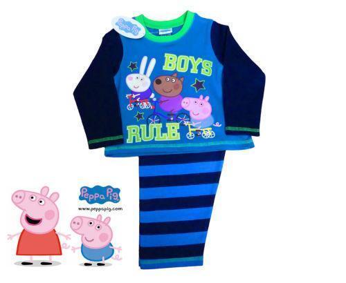 3872a7979db8 Boys Peppa Pig Pyjamas
