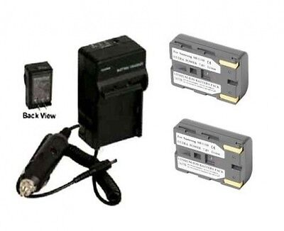 2X Batteries + Charger for Samsung SC-D101 VP-D80 VP-D82 VP-D85 VP-D87 VP-D93 for sale  Shipping to India
