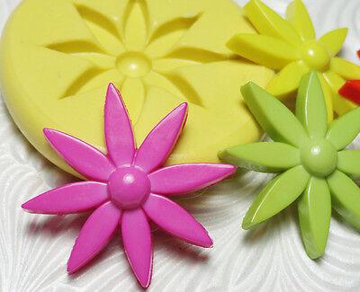 Silicone Resin Polymer Clay Fondant Flexible Push Mold MOD FLOWER 1235