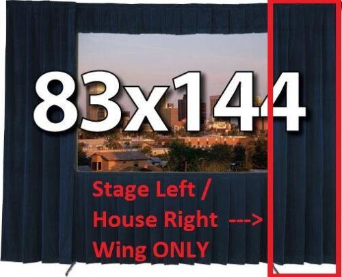 DA-LITE 83 X 144 FAST FOLD ** BLACK STAGE LEFT WING DRAPE ONLY **