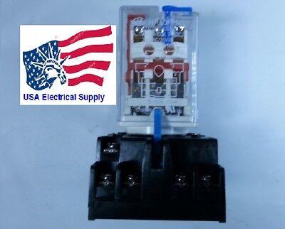 New Relay 11Pin Coil 24VDC 10A/5A 250VAC/30VDC With Socket Base 7A 250V 11-pin Relay Socket