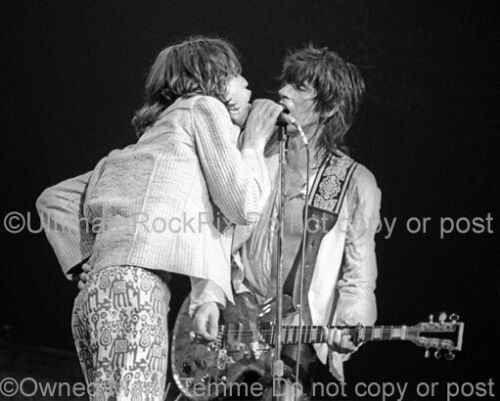 Mick Jagger Photo 11x14 Inch Keith Richards The Rolling Stones 1975 Marty Temme