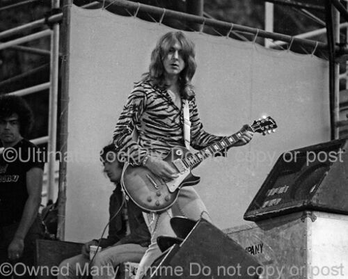 MICK RALPHS PHOTO BAD COMPANY 8x10 Concert Photo in 1974 by Marty Temme Les Paul