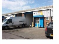 WAREHOUSE FOR RENT. 1250SQ FT ELECTRIC SHUTTERS. SUITABLE FOR MANY TRADES. HAYES, MIDDX