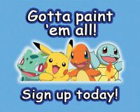 Gotta Paint 'Em All! Kids Pokemon Paint Art Class