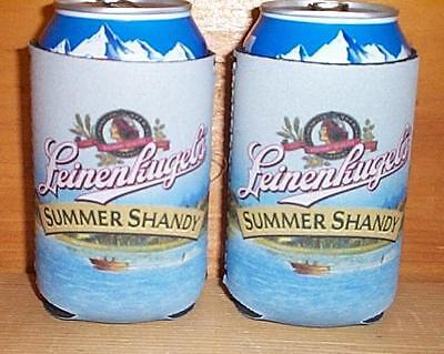 Beer Huggies (LEINENKUGELS SUMMER SHANDY 2 BEER CAN HUGGIE KOOZIE COOLIE COOZIE COOLERS)
