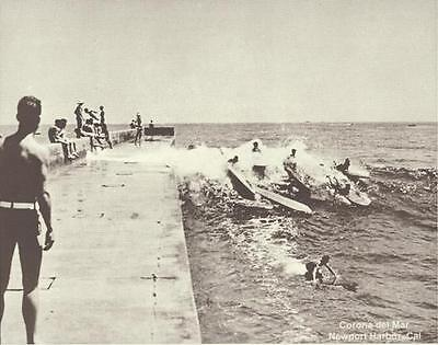 "NEWPORT BEACH Surfing BALBOA SURFBOARD Photo Print 1490 11"" X 14"""