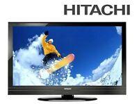 "Brand New Hitachi 32"" Slim LED TV HD Ready Television, Freeview + USB Media Player, 2x HDMI with BOX"