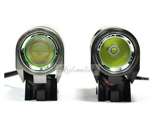 2x fahrrad lampe set 1200lm cree xm l l2 led kopflampe beleuchtung licht m akku ebay. Black Bedroom Furniture Sets. Home Design Ideas