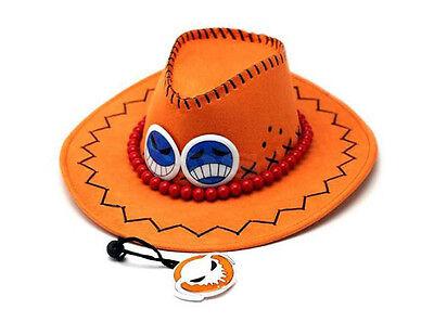 One Piece Puma D. Ace Anime Hut Mütze Hat Cosplay Kostüm Cowboyhut Westernhut ()