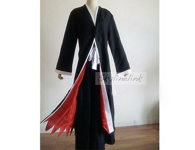 Bleach Anime Ichigo Kurosaki Mantel Umhang Hose Cosplay Kostüm Rukia Renji Kendo